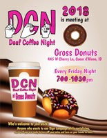 Couer d'Alene, Idaho - Weekly Deaf Coffee Night Fridays