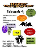 Deaf Center Halloween Party October 30th, 6:00 pm