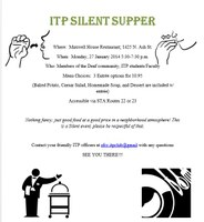 ITP Silent Supper